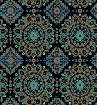 Moroccan-Medallion--Navy-Multi