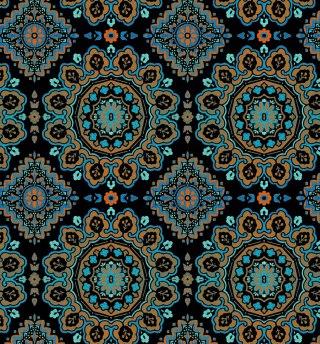 Moroccan-Medallion--Navy-Multi